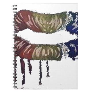 het aftappen rainbows.lips en zijn niet kegels! ringband notitieboek