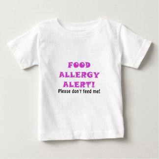 Het Alarm van de Allergie van het voedsel te Baby T Shirts