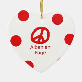 Het Albanese Ontwerp van het Symbool van de Vrede Keramisch Hart Ornament