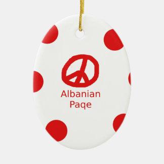 Het Albanese Ontwerp van het Symbool van de Vrede Keramisch Ovaal Ornament