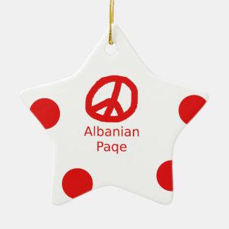Het Albanese Ontwerp van het Symbool van de Vrede Keramisch Ster Ornament