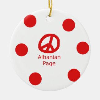 Het Albanese Ontwerp van het Symbool van de Vrede Rond Keramisch Ornament