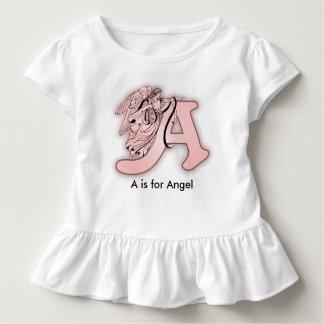 Het Alfabet van de engel een Eerste Monogram Kinder Shirts