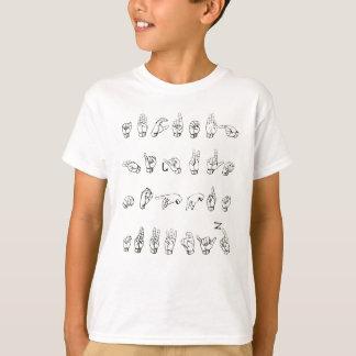 Het Alfabet van de gebarentaal T Shirt