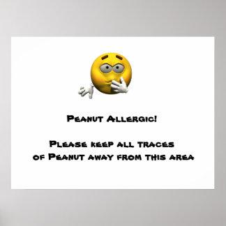 Het Allergische Poster van de pinda