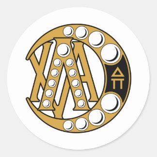 Het Alpha- Kenteken van de Chi van lambda Ronde Sticker
