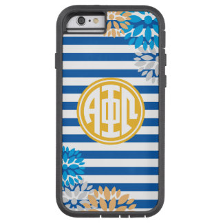 Het alpha- Phi Omega | Patroon van de Streep van Tough Xtreme iPhone 6 Hoesje
