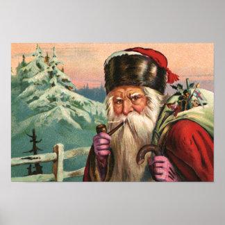 Het alpiene Poster van de Kerstman