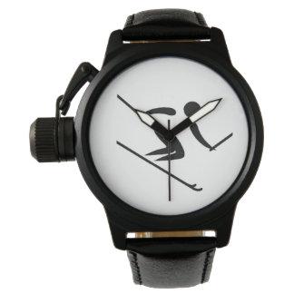 Het Alpiene Ski?en van het team Horloge