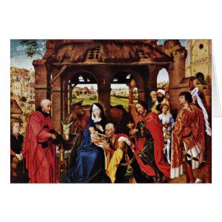 Het Altaar van drie Koning, MiddenComité: Briefkaarten 0