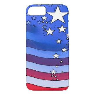 Het Amerikaanse Art. van de Waterverf van de Vlag iPhone 7 Hoesje