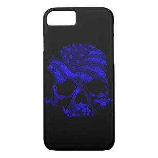 Het Amerikaanse Blauw van de Schedel iPhone 8/7 Hoesje
