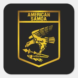Het Amerikaanse Embleem van Samoa Vierkante Sticker