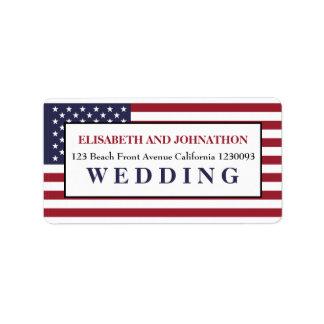 Het Amerikaanse Huwelijk van de Vlag Addressticker