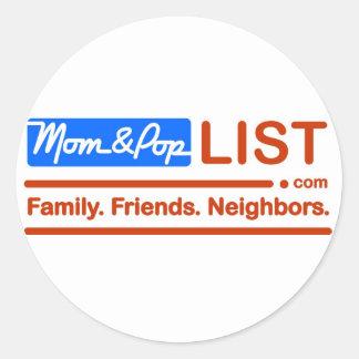 Het Amerikaanse Mamma en de Pop van de Vlag Ronde Sticker