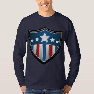 Het Amerikaanse Overhemd van het lang-Sleeve van T Shirt