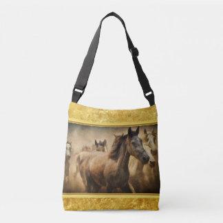 Het Amerikaanse Paard van het Kwart met een gouden Crossbody Tas