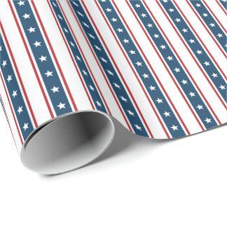 Het Amerikaanse Patriottische Patroon van Sterren Cadeaupapier