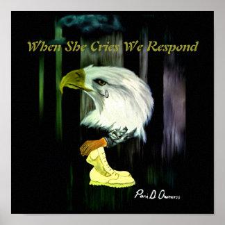 Het Amerikaanse Poster van de Schreeuwen van Eagle