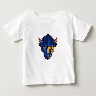 Het Amerikaanse Retro Hoofd van de Bizon Baby T Shirts