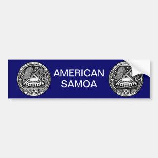 Het Amerikaanse Wapenschild van Samoa Bumpersticker