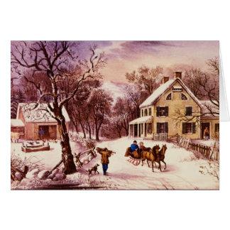 Het Amerikaanse Wenskaart van de Winter van de