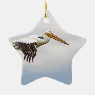 Het Amerikaanse Witte Kruisen van de Pelikaan Keramisch Ster Ornament