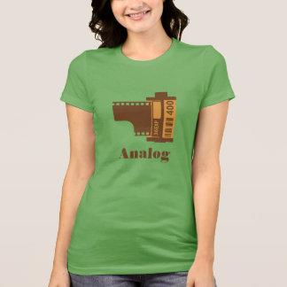 het Analoge Gepersonaliseerde Ontwerp van de Film T Shirt