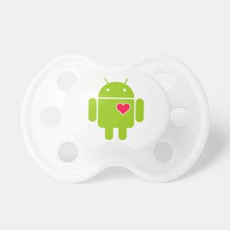 Het androïde Pictogram van de Robot met een Hart Speen