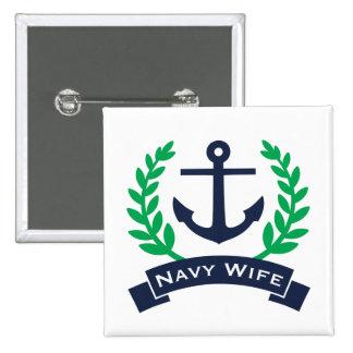 Het Anker van de Vrouw van de marine Vierkante Button 5,1 Cm