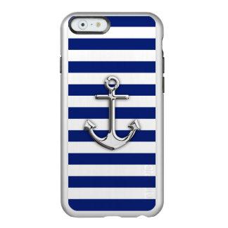 Het Anker van het chroom op de Zeevaart Incipio Feather® Shine iPhone 6 Hoesje