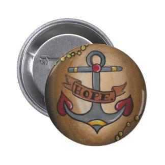 Het Anker van het tattoo Ronde Button 5,7 Cm