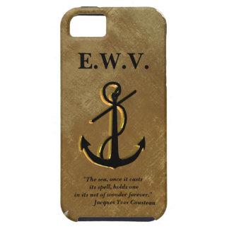 Het anker van schepen op perkament Iphone 5 hoesje