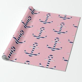 Het ankerpatroon van Girly Inpakpapier