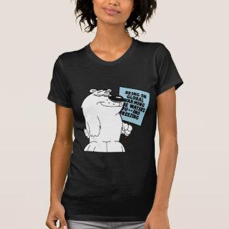 Het anti globale verwarmen t shirt