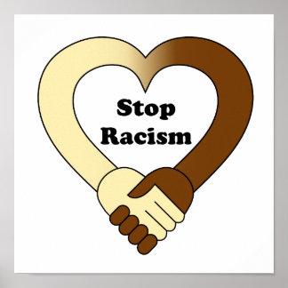 Het anti logo van de racismehanddruk poster