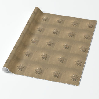 Het antiek Gouden Verpakkende Document van de Boog Inpakpapier