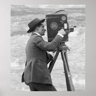 Het antiek Man van de Camera, 1918 Poster