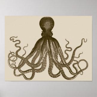 Het antiek Poster van de Octopus