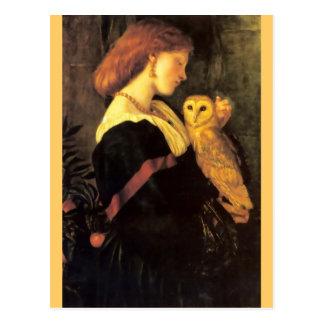 Het antiek schilderen van de Uil van de Briefkaart