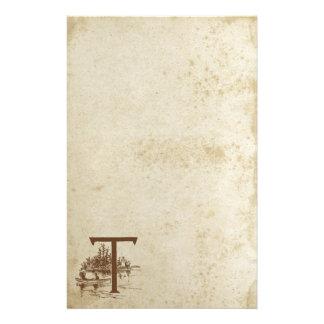 Het antiquiteit Bevlekte Document van de Briefpapier