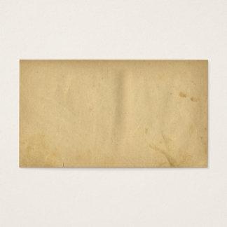 Het antiquiteit Bevlekte Lege Gele Document van de Visitekaartjes