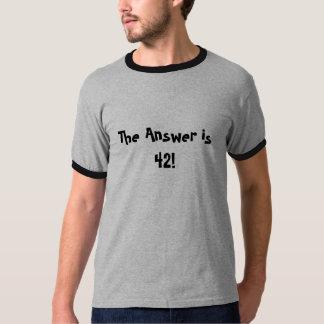 Het antwoord is 42! t shirt