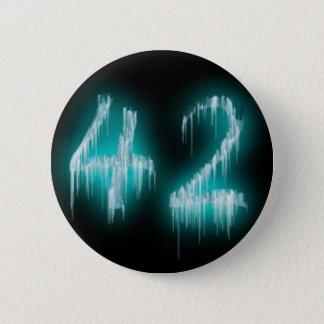 Het antwoord ronde button 5,7 cm