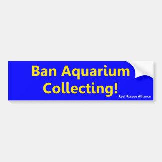 Het Aquarium die van het verbod de Sticker van de  Bumpersticker