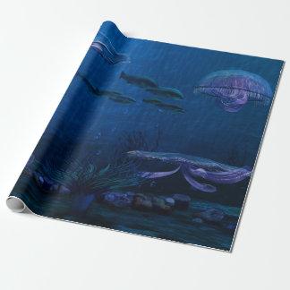 Het Aquarium van de Kwallen van de Lichten van de Inpakpapier