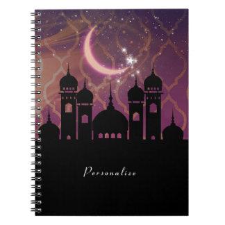 Het Arabische Marokkaanse Paarse Roze Van het Notitieboek