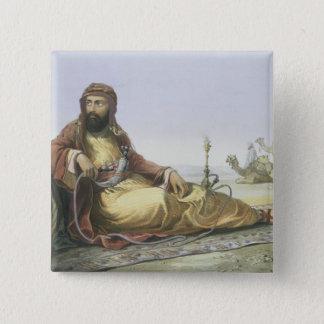Het Arabische Rusten in de Woestijn, titelpagina Vierkante Button 5,1 Cm