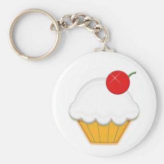 Het Art. van Cupcake van de kers Sleutel Hangers