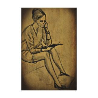 Het Art. van de bibliotheek Canvas Afdruk